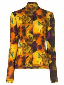GANNI floral print top - Multicolour