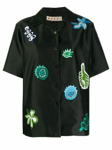 Marni patch-embellished shirt - Black