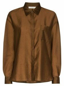 LVIR satin shirt - Brown