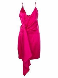 Cushnie asymmetric satin mini dress - PINK