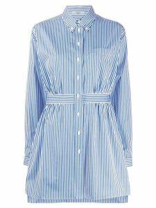 Prada striped long belted shirt - White