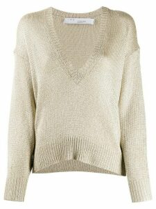 IRO oversized V-neck jumper - GOLD