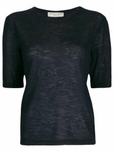 Bottega Veneta short-sleeved cashmere top - Blue