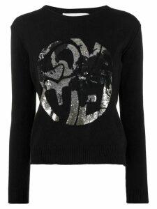 Alberta Ferretti sequin print jumper - Black
