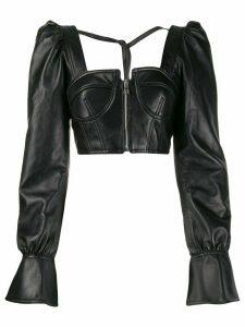 Manokhi cropped corset blouse - Black