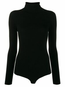 Twin-Set backless turtle neck body - Black