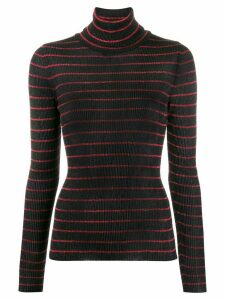 8pm striped turtle-neck sweater - Black