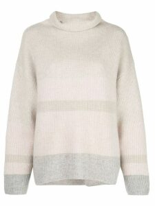 Le Kasha Kinsale striped cashmere jumper - Grey