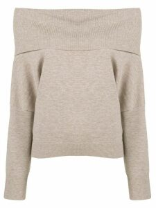 Chalayan off-the-shoulder knitted sweater - NEUTRALS