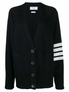 Thom Browne 4-bar raglan sleeved V-neck cardigan - Blue