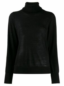 Michael Kors Collection turtleneck knitted jumper - Black