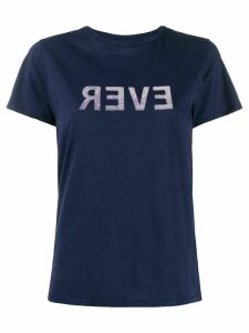 Bellerose slogan print crewneck T-shirt - Blue