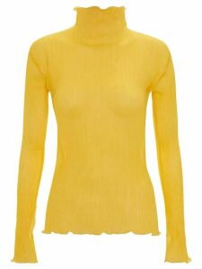 JW Anderson pleated frilled top - Yellow