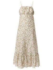 Sir. Annalie leaf print dress - NEUTRALS