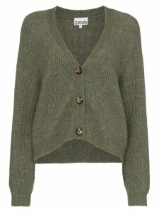 GANNI knitted cardigan - Brown