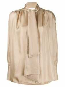 Remain pussy bow collar shirt - Neutrals