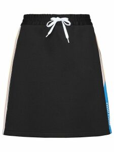 Miu Miu Technical cotton fleece skirt - Black