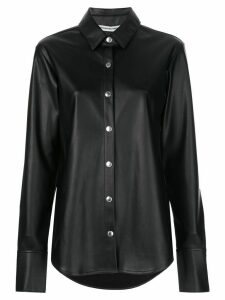 T By Alexander Wang faux-leather shirt - Black
