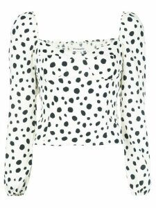 Reformation Reign ink-blot blouse - White