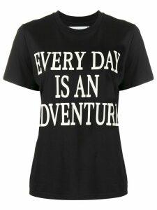 Alberta Ferretti slogan print T-shirt - Black