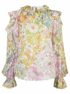 Zimmermann Super Eight ruffled blouse - PINK
