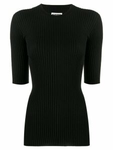 Jil Sander ribbed knit top - Black