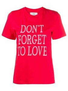 Alberta Ferretti slogan print T-shirt - Red