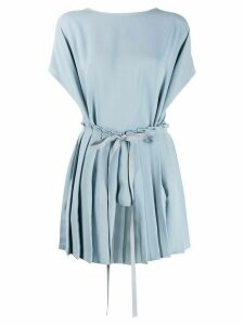 Mm6 Maison Margiela tie waist pleated top - Blue