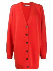 Marni oversized knitted cardigan - ORANGE