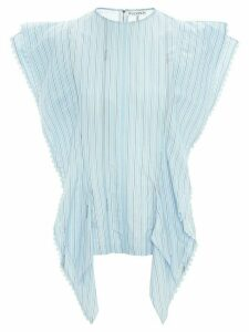JW Anderson striped broderie anglaise-trimmed blouse - Blue