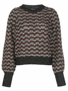 Veronica Beard Ruth open-knit jumper - White