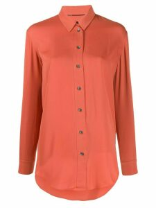Calvin Klein plain long sleeve shirt - ORANGE