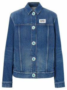 Burberry logo denim jacket - Blue