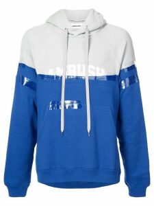 AMBUSH colour-block logo hoodie - Blue