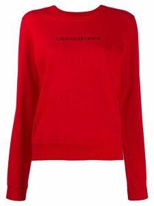 Calvin Klein Jeans logo print sweatshirt - Red