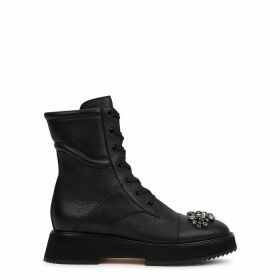 Jimmy Choo Hadley Embellished Leather Ankle Boots