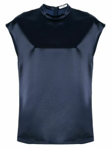 Tibi satin mock blouse - Blue