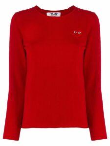 Comme Des Garçons Play chest logo jumper - Red