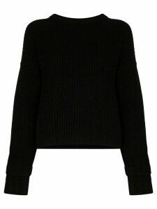 Le Kasha Corse cashmere chunky knit jumper - Black