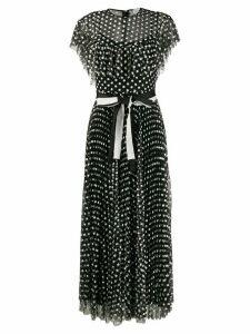 RedValentino floral pattern dress - Black