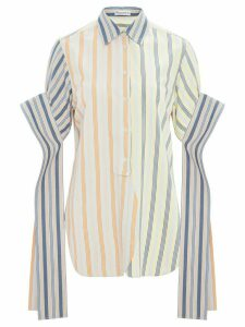 JW Anderson striped exaggerated sleeved shirt - Blue