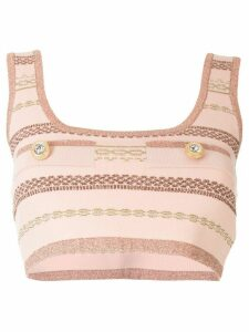 Alice McCall striped crop top - PINK