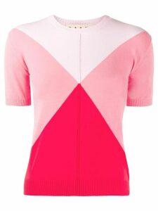 Marni diamond knitted top - PINK