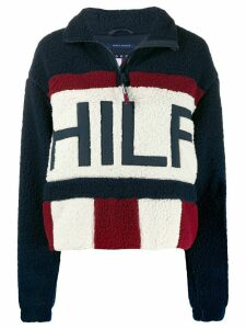 Tommy Jeans faux-sherpa half-zip sweatshirt - Blue