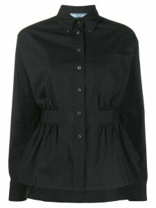 Prada belted button down shirt - Black