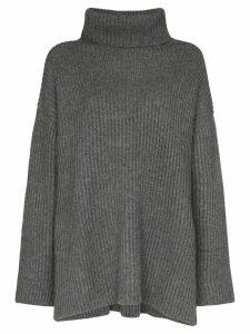 Le Kasha oversized turtleneck cashmere jumper - Grey