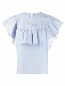 RedValentino cape effect blouse - Blue