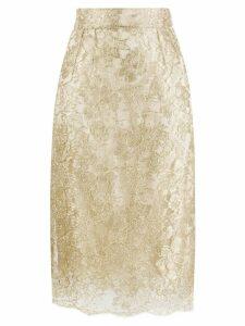 Dolce & Gabbana lace brocade skirt - GOLD