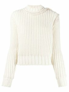 Jil Sander turtleneck knit jumper - NEUTRALS