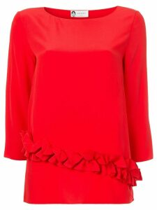 LANVIN ruffle detail blouse - Red